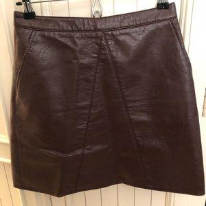 Zara Skirts - Zara basic faux leather skirt